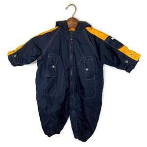 Baby GAP Winter Suit Boys Blue/Yellow Size 6-12mo